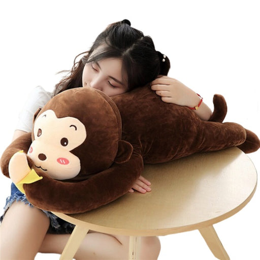 Monkey Plush | Eddy the Soft Stuffed Hanging Monkey Pillow with Banana | SumoEarth