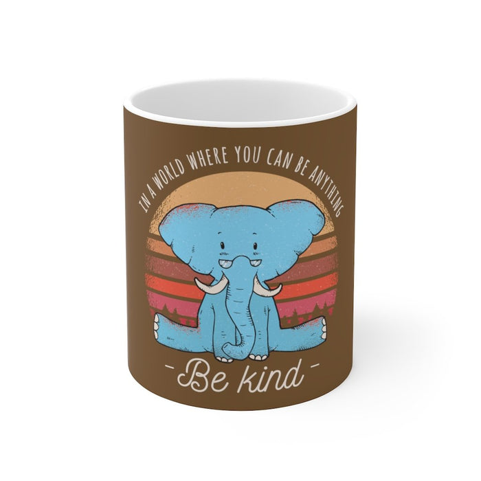 Elephant Coffee Mug | Elephant Coffee Mug - Be Kind | sumoearth 🌎