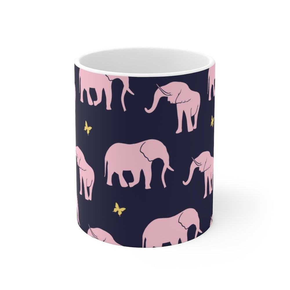 Elephant Coffee Mug | Elephant Coffee Mug - Seamless Silhouette | sumoearth 🌎