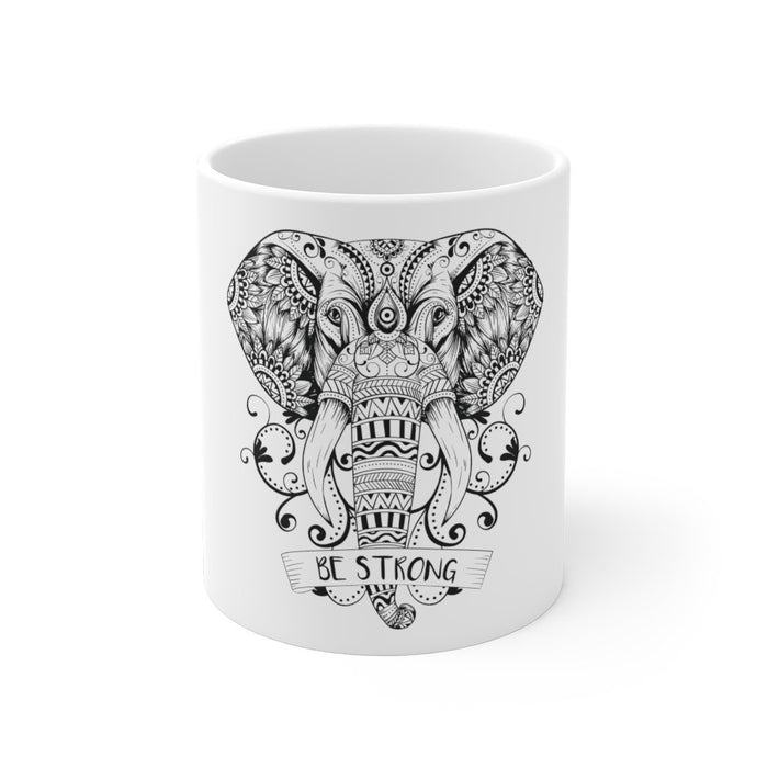Elephant Coffee Mug | Elephant Mug Coffee - Be Strong | sumoearth 🌎