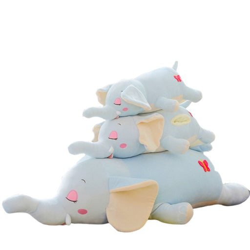 Elephant Plush Pillow | Elephilly the Sleepy Stuffed Elephant Plush Pillow with Pockets | SumoEarth