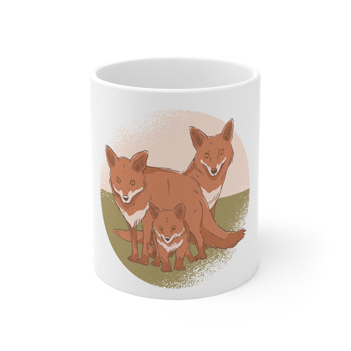 Fox Coffee Mug - Family - sumoearth