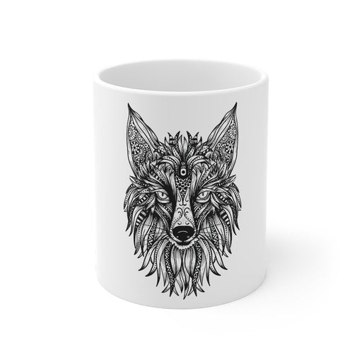 Fox Coffee Mugs | Fox Coffee Mug - Tribal | sumoearth 🌎