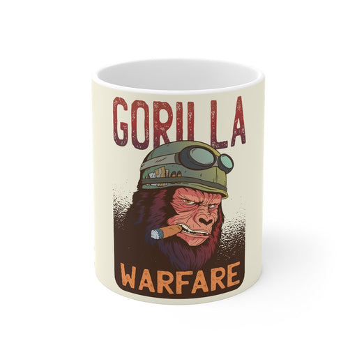 Gorilla Coffee Mugs | Gorilla Coffee Mug - Gorilla Warfare | sumoearth 🌎