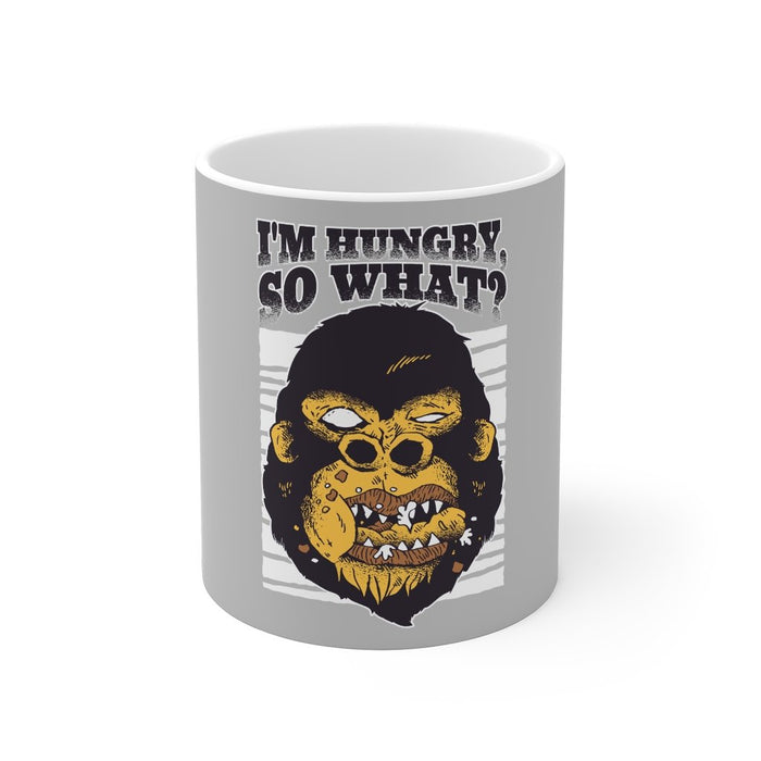 Gorilla Coffee Mugs | Gorilla Coffee Mug - I'm Hungry So What? | sumoearth 🌎