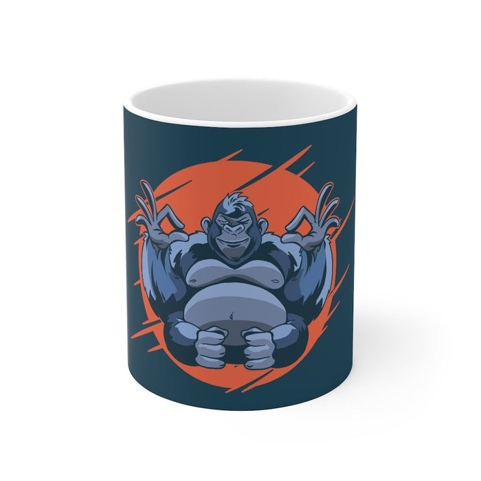 Gorilla Coffee Mugs | Gorilla Coffee Mug - Meditation | sumoearth 🌎