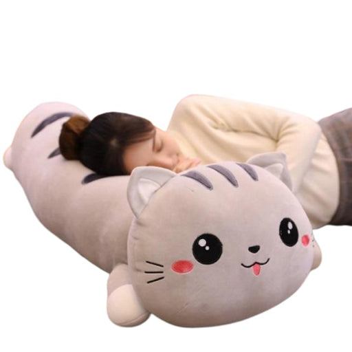 Cat Body Pillow | Mochi the Soft Cat Body Plush Pillow - Cat Plush Toy | sumoearth 🌎