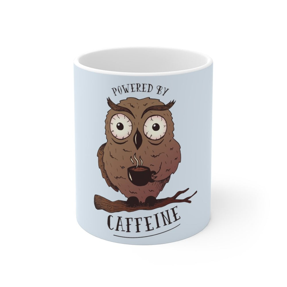Owl Coffee Mug | Owl Coffee Mug - Powered By Caffeine | sumoearth 🌎