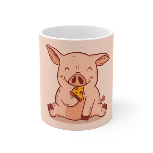 Pig Coffee Mugs | Pig Coffee Mug - Happy Pizza Pig | sumoearth 🌎