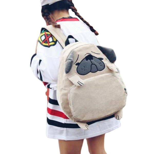 Pug Backpack | Cute Pug School Backpack | sumoearth 🌎