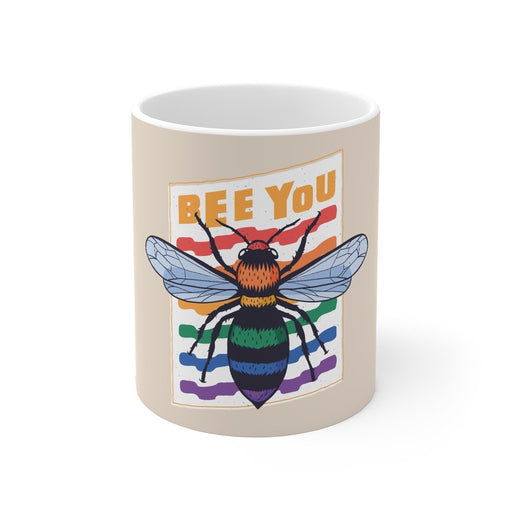 Rainbow Coffee Mug | Rainbow Coffee Mug - Bee You | sumoearth 🌎