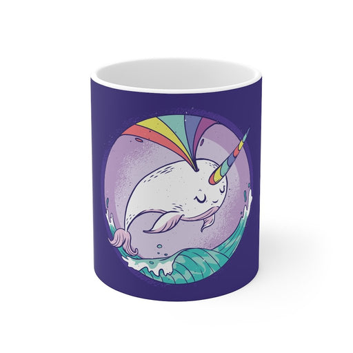 Rainbow Coffee Mug | Rainbow Coffee Mug - Narwhal Spout | sumoearth 🌎