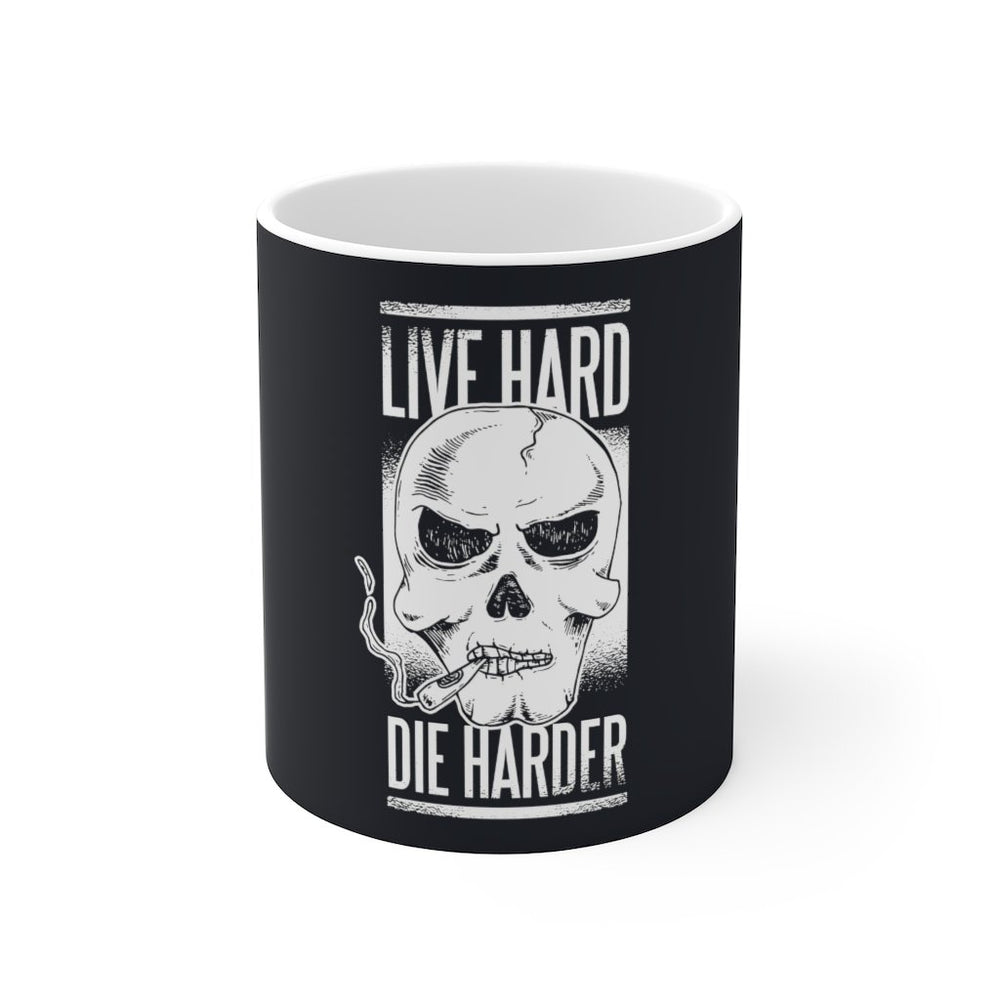 Skull Coffee Mug | Skull Coffee Mug - Live Hard Die Harder | sumoearth 🌎