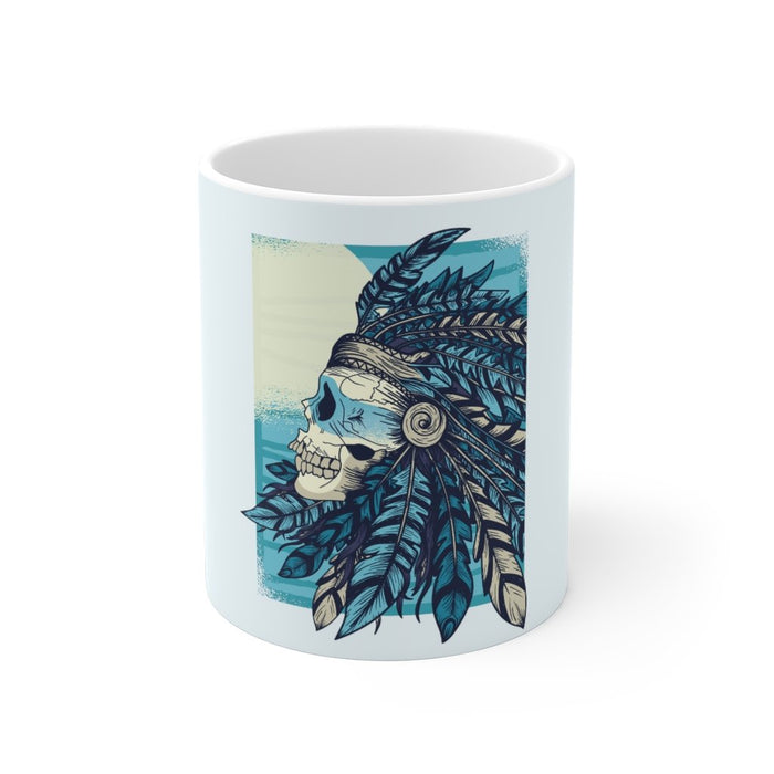 Skull Coffee Mug | Skull Coffee Mug - Native Blues | sumoearth 🌎