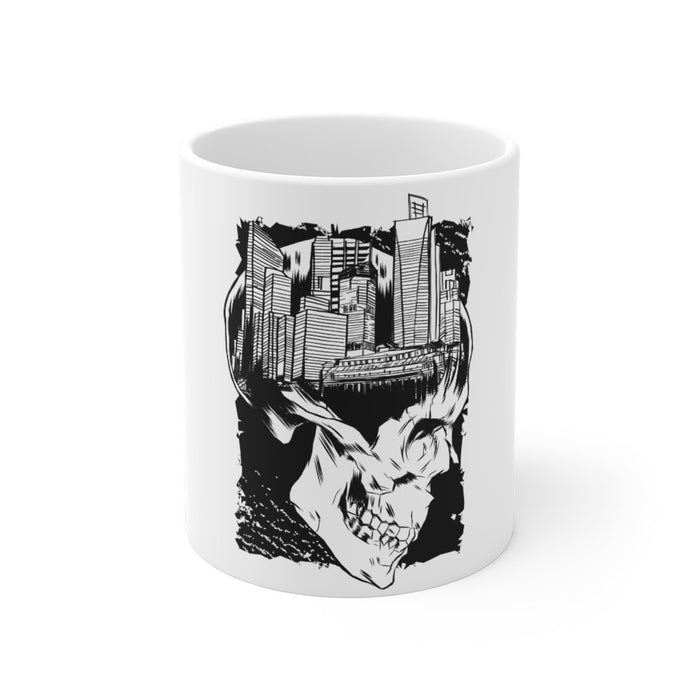 Skull Coffee Mug | Skull Coffee Mug - Skull and the City | sumoearth 🌎