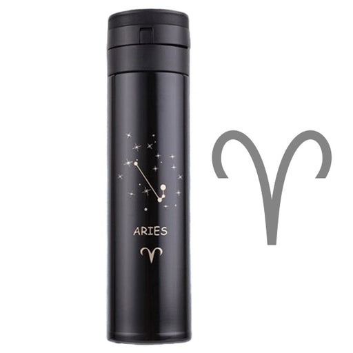 Zodiac Drinkware | Zodiac Constellation ThermoFlask Water Bottle (Stainless Steel/16 oz) | sumoearth 🌎