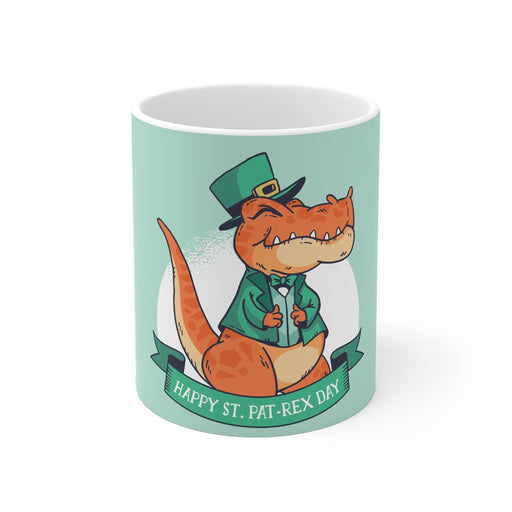 Dinosaur Coffee Mugs | Happy St. Pat-Rex Day Coffee Mug | Dinosaur Coffee Mug | sumoearth 🌎