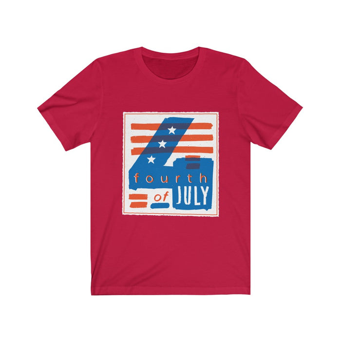 4th of July T-Shirts | Women's 4th of July Boxed T-Shirt | sumoearth 🌎