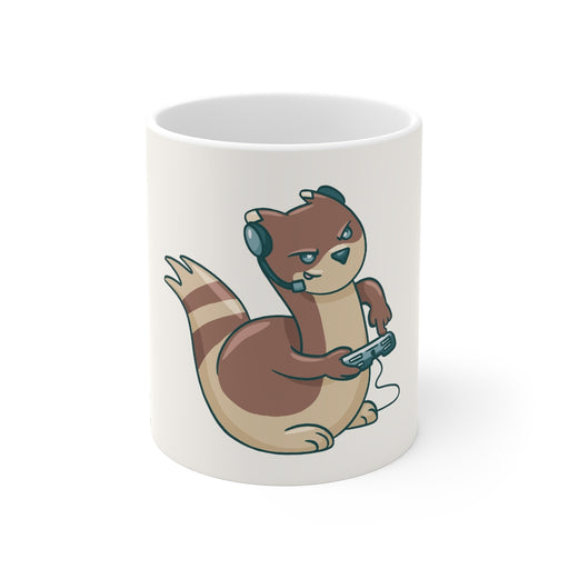 Gamer Coffee Mug | Gamer Ferret Coffee Mug | sumoearth 🌎