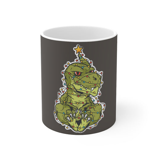 Dinosaur Coffee Mugs | T-Rex Christmas Tree Coffee Mug | Dinosaur Coffee Mug | sumoearth 🌎