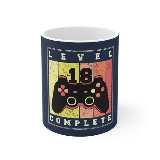 Gamer Coffee Mug | Level 18 Complete | Gamer Coffee Mug | sumoearth 🌎