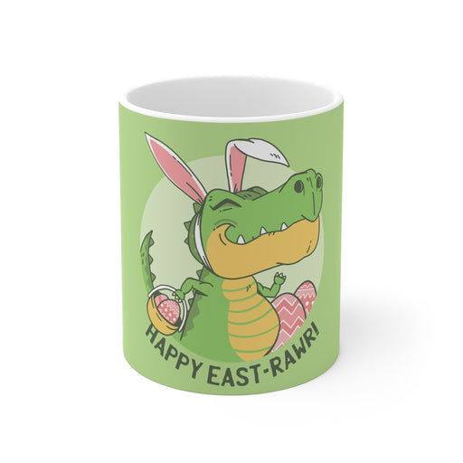Dinosaur Coffee Mugs | Happy East-Rawr Coffee Mug | Dinosaur Coffee Mug | sumoearth 🌎