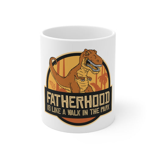 Dinosaur Coffee Mugs | Fatherhood Is Like A Walk In The Park Coffee Mug | Dinosaur Coffee Mug | sumoearth 🌎