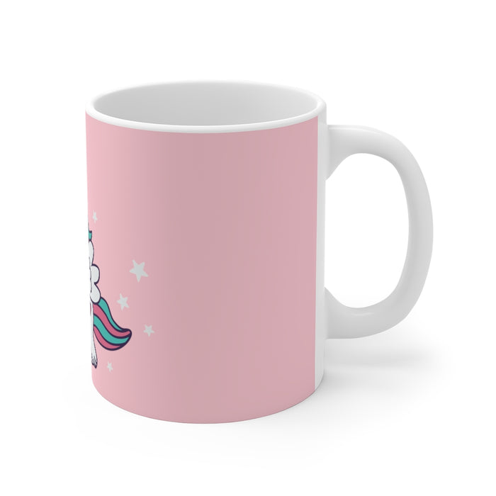 Unicorn Coffee Mug | Unicorn Coffee Mug - Fly By, Middle Finger | sumoearth 🌎