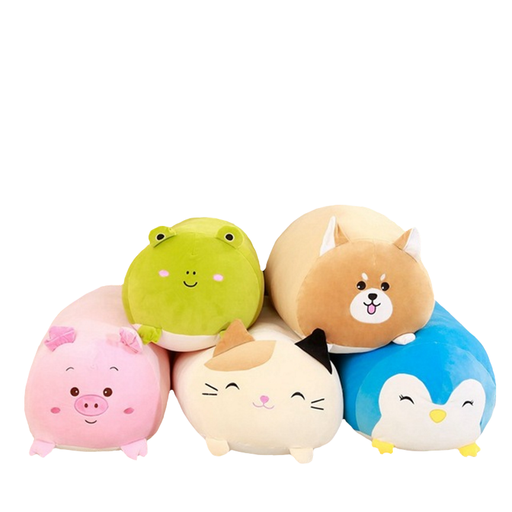 sumoearth PlushPillows Cat Frog Penguin Pig Shiba Inu | Squishy Soft Big Plush Pillows | Cat, Frog, Penguin, Pig, Shiba Inu | sumoearth 🌎