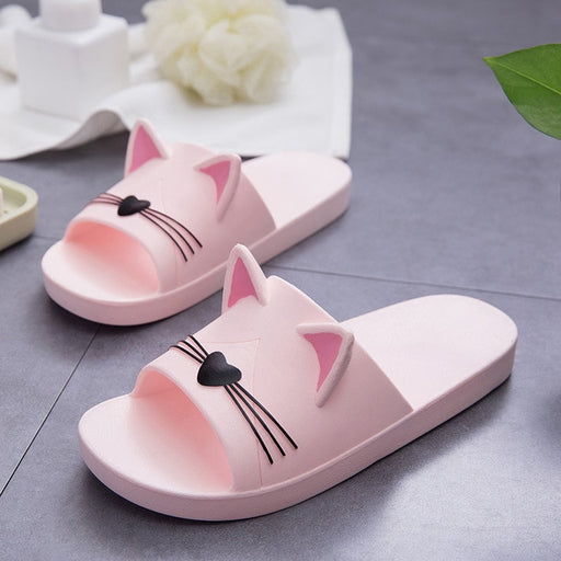 Cat Ear Slippers for Womens - Pink | sumoearth