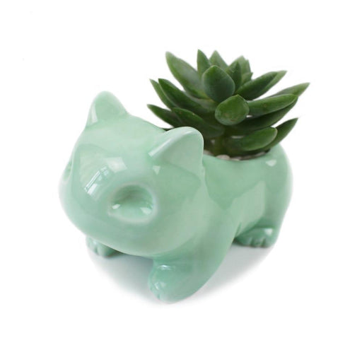 Garden Succulent Pot | Ceramic Succulent Plant Pot inspired by Bulbasaur | SumoEarth