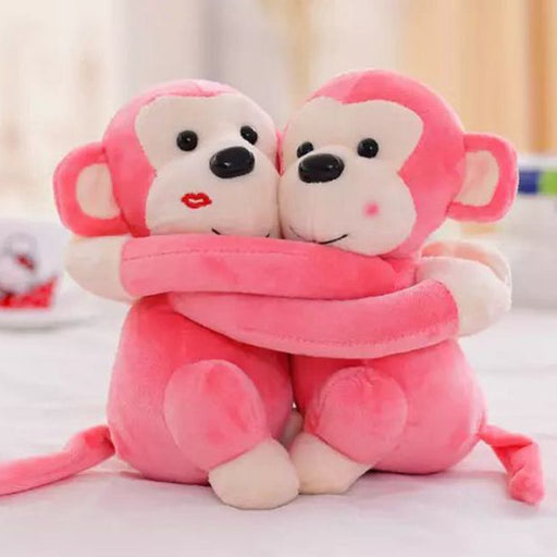 Monkey Plush | Hugging Monkey Teddy Bear Stuffed Animal (Couples) | SumoEarth