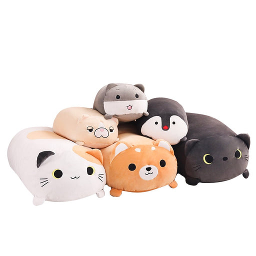Soft Big Plush Pillow - Bulldog, Cat, Penguin, Hamster, Shiba Inu | sumoearth