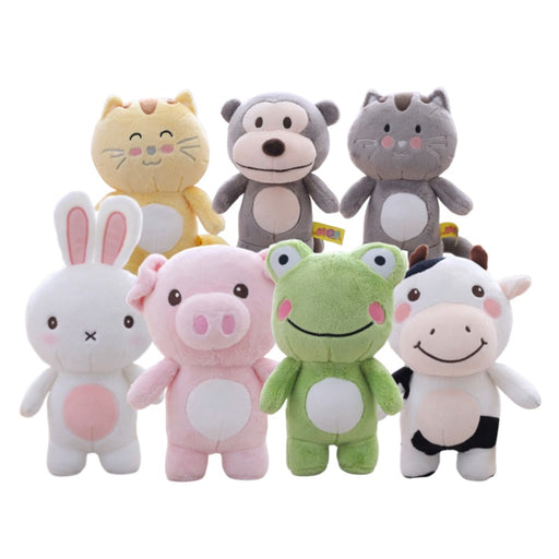 Stuffed Animal Plush Toy | Bunny, Cow, Frog, Cat, Monkey, Pig - sumoearth