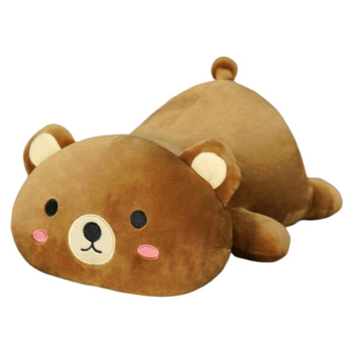 Soft Stuffed Animal Pillows Plush Toy - Brown Bear | sumoearth