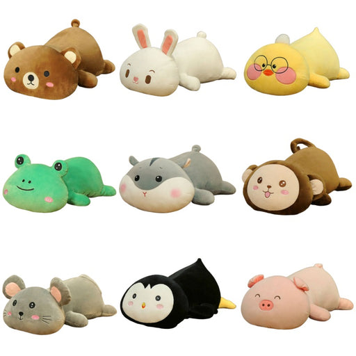 sumoearth PlushPillows Bear, Bunny, Duck, Frog, Husky, Hamster, Monkey, Mouse, Panda, Penguin, Pig | sumoearth Soft Stuffed Animal Plush Pillows | SumoEarth