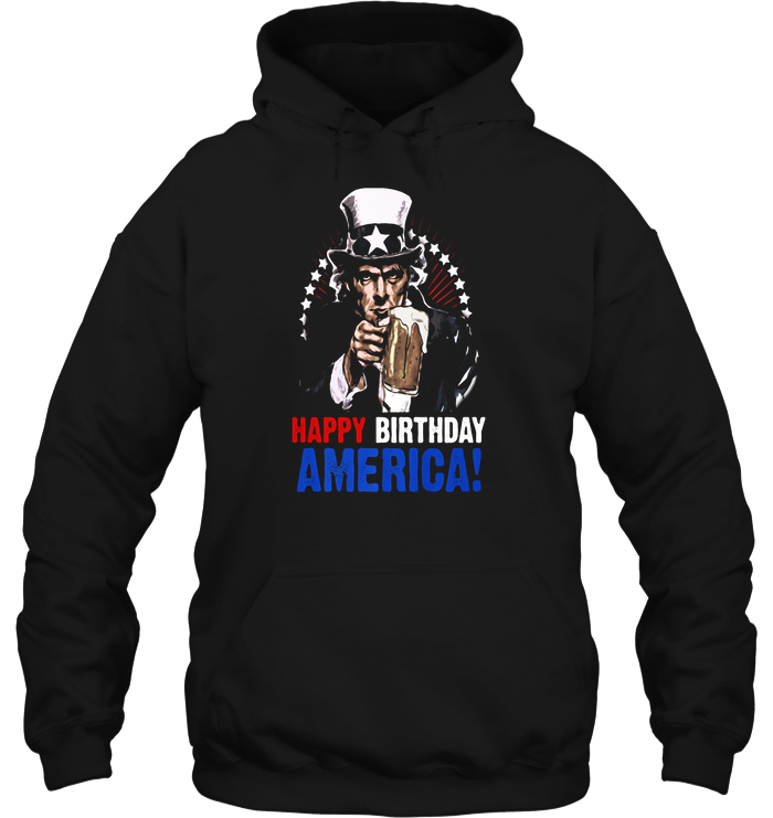 Happy Birthday America 4th Of July Uncle Sam T Shirt Previous Slide