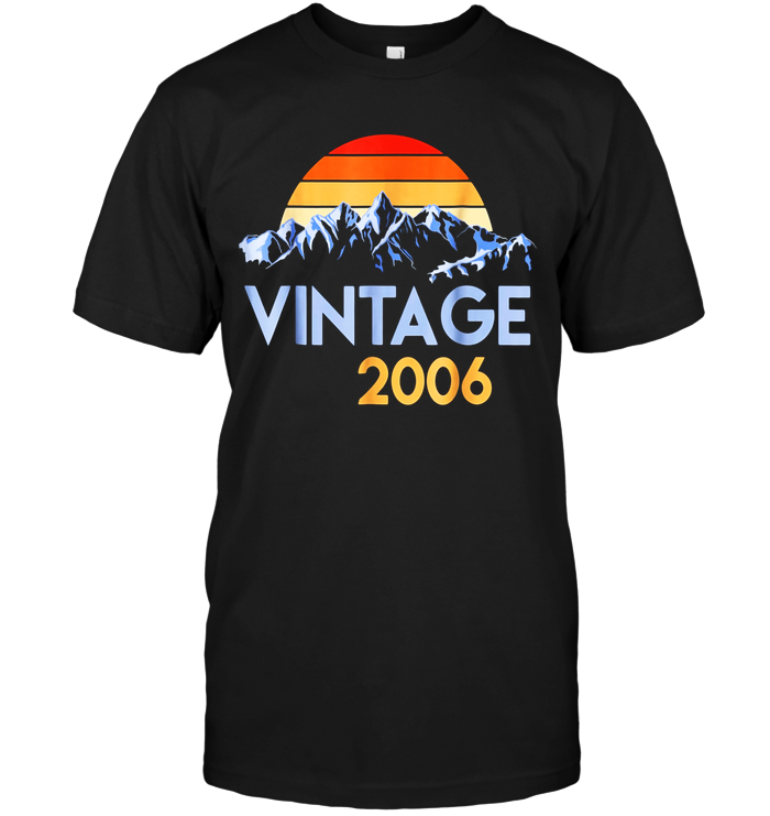 2006 Vintage T Shirt 13th Birthday Gift 13 Years Old Retro