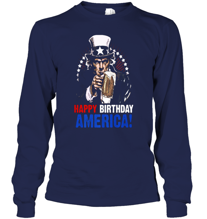 Happy Birthday America 4th Of July Uncle Sam T Shirt Next Slide