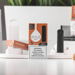 Mini Sweet Tobacco MYLÉ Disposable Vape Pods in UAE. Dubai, Abu Dhabi, Sharjah, Ajman - MYLÉ Vape Dubai