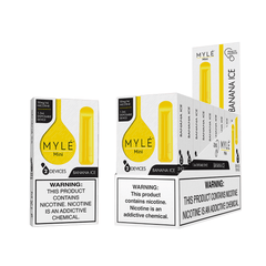Mini Banana Ice MYLÉ Disposable Vape Pods in UAE. Dubai, Abu Dhabi, Sharjah, Ajman - MYLÉ Vape Dubai