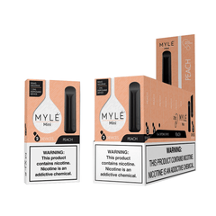 Mini Peach MYLÉ Disposable Vape Pods in UAE. Dubai, Abu Dhabi, Sharjah, Ajman - MYLÉ Vape Dubai