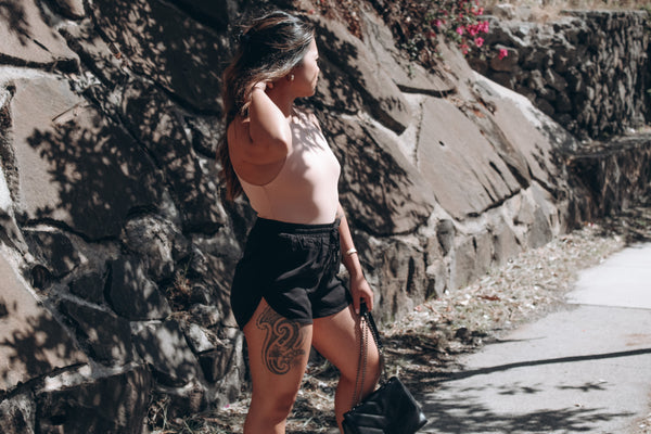 Black Walk in the Park Shorts - Andrea Louis