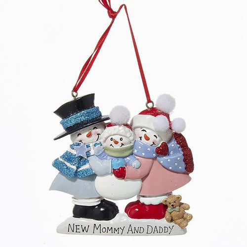 Kurt Adler New Mommy and Daddy Ornament For Personalization, A0942