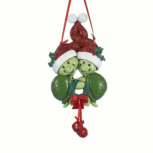 Kurt Adler Turtle Family of 2 Ornament For Personalization, A1213