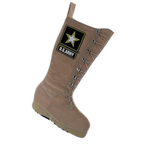 Kurt Adler U.S. Army Combat Boot Applique Stocking, AM7121