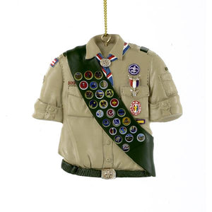 Kurt Adler Boy Scouts Of America Shirt With Sash Ornament, BS2145