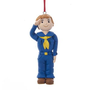 "Kurt Adler 3.5"" Claydough Cub Scout Ornament        , BS2181C"
