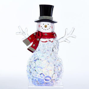 Kurt Adler Battery-Operated Multi-Color LED Snowman Table Piece, C5531