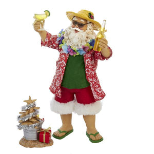 Kurt Adler Fabriche Beach Santa, 2-Piece Set, C7416